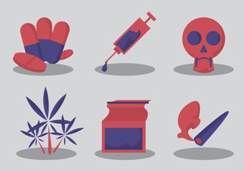 No Drugs Vector Set - vector gratuit #329479