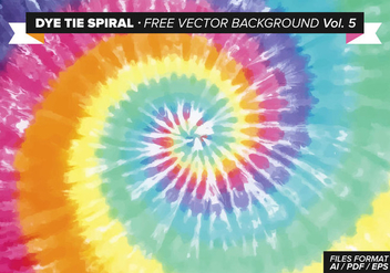Dye Tie Spiral Free Vector Background Vol. 5 - vector gratuit #329539