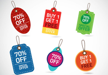Sale Tags Design - vector gratuit #329559