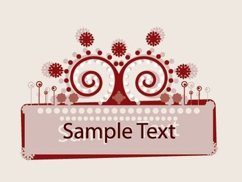 Abstract Ornamented Frame Banner - Free vector #329609