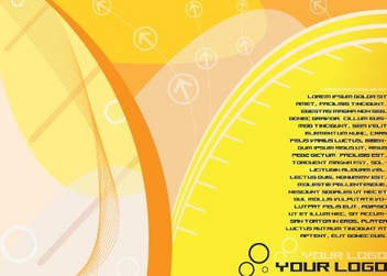 Yellowish Waves Flyer Design - Free vector #329629