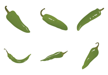 Free Green Hot Pepper Vector Illustration - бесплатный vector #329679