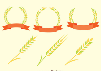 Ear Of Corn Decoration Vectors - Free vector #329719