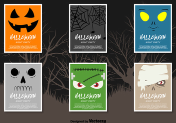 Halloween flyers - vector gratuit #329729