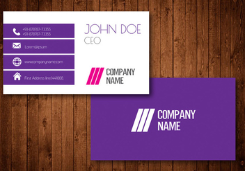 Creative Business Card - Kostenloses vector #329809