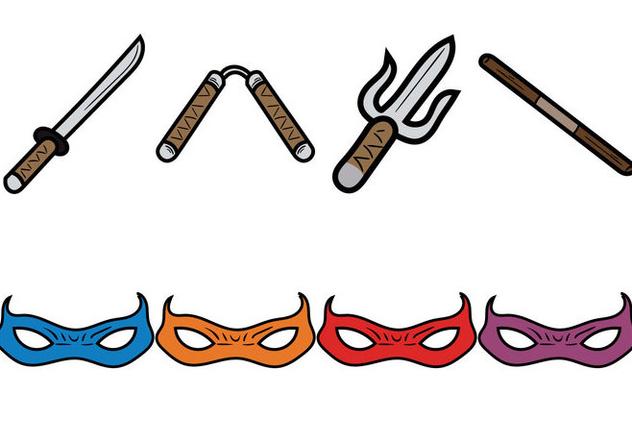 tortues ninja gratuit vector illustration vector gratuit 330059 - Ninja Gratuit