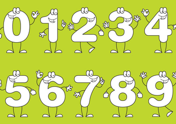 Number Cartoons - vector gratuit #330069