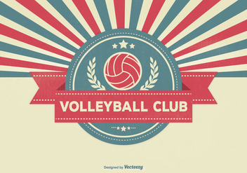 Retro Volleyball Club Illustration - vector gratuit #330079