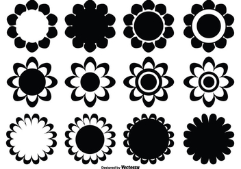 Assorted Flower Shape Set - vector gratuit #330129