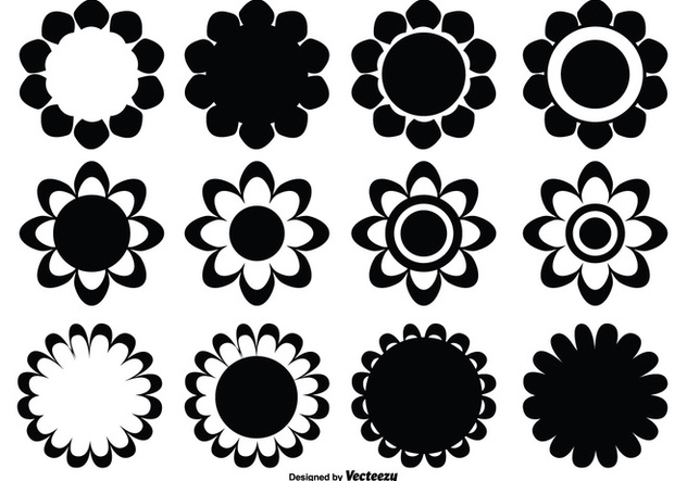 Assorted Flower Shape Set - Free vector #330129
