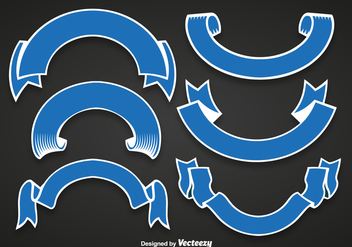 Blue ribbons - vector gratuit #330139