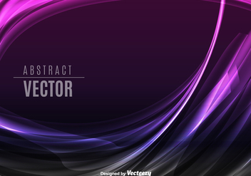 Purple abstract waves - vector #330159 gratis