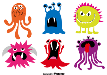 Cartoon monsters - Free vector #330169
