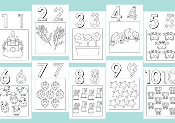 Numbers Coloring Pages - vector gratuit #330469