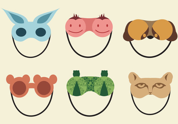 Cute Sleeping Mask - vector gratuit #330479