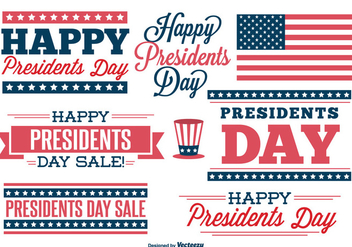 Presidents Day Label Set - vector gratuit #330489