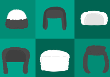 Man Fur Hat Vectors - vector gratuit #330519