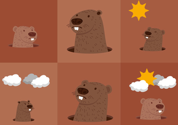 Groundhog Day - Free vector #330539