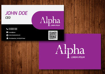 Creative Business Card - vector #330559 gratis