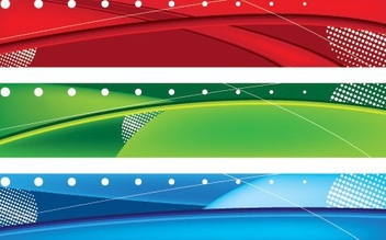 3 Abstract Multicolor Banners - vector gratuit #330629