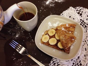 Breakfast with pancakes and coffee - image #330709 gratis