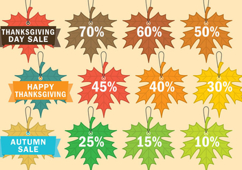 Thanksgiving Sale Labels - vector gratuit #330739