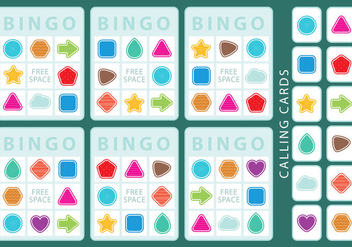 Shapes Bingo Cards - Free vector #330769