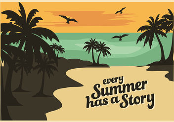 Free Summer Vector Background - Kostenloses vector #330799