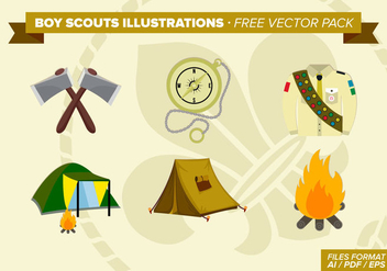 Boy Scouts Illustrations Free Vector Pack - Free vector #331079