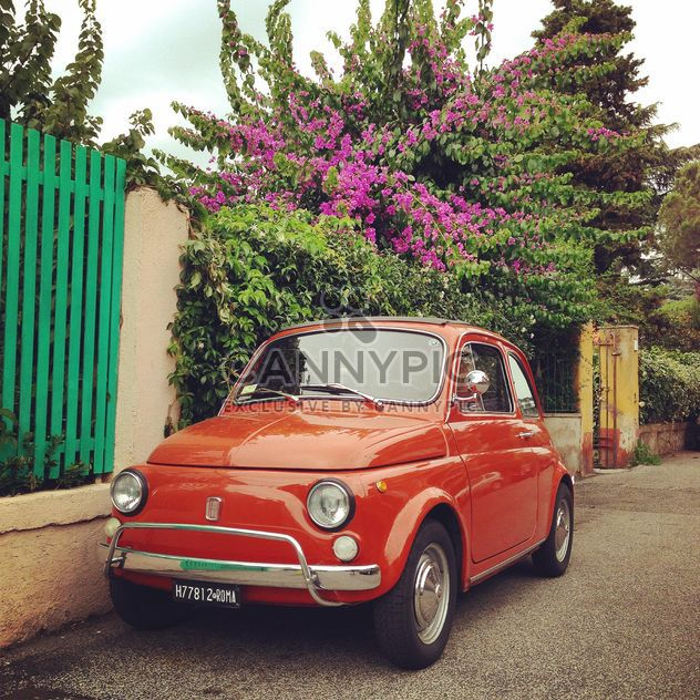Red Fiat 500 car - Free image #331229