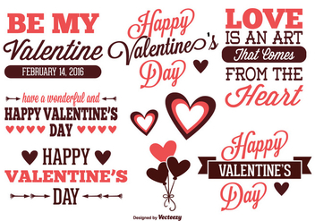 Valentine's Day Label Set - Kostenloses vector #331259