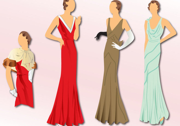 Fashion 1930 - Free vector #331339