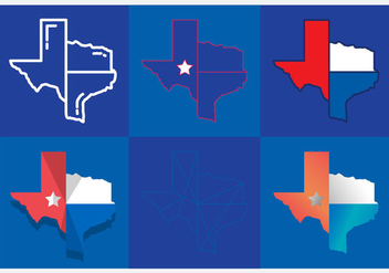Texas Map Vector Icons #5 - vector gratuit #331389