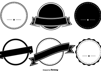 Assorted Badge Shape Set - vector gratuit #331419
