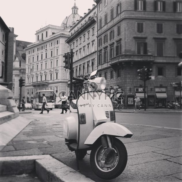 Vespa scooter on street - image #331469 gratis