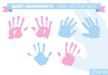 Baby Handprints Free Vector Pack - Kostenloses vector #331499