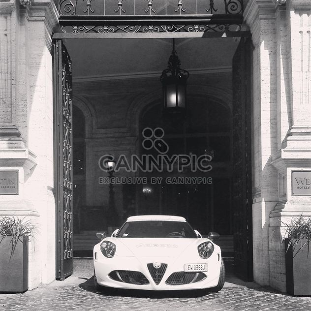 Alfa Romeo 4c, black and white - Free image #331849