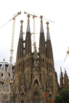 Fasade of La Sagrada Familia in Barcelona - бесплатный image #332159