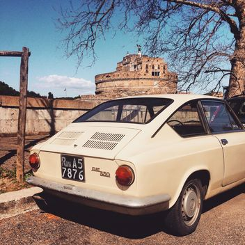 Old Fiat 850 car in street - image gratuit #332269