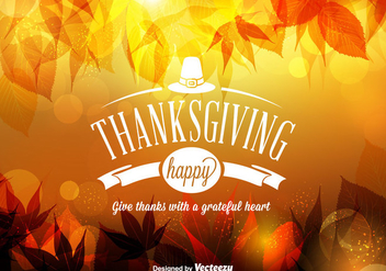 Free Vector Happy Thanksgiving Background - бесплатный vector #332549