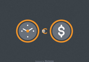 Free Time Is Money Vector Illustration - Free vector #332559