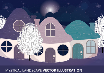 Mystical Landscape Vector Illustration - Free vector #332579