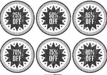 Distressed Discount Web Stamps - бесплатный vector #332619