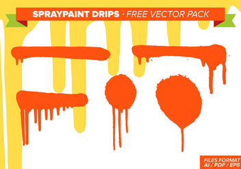 Spraypaint Drips Free Vector Pack - бесплатный vector #332649