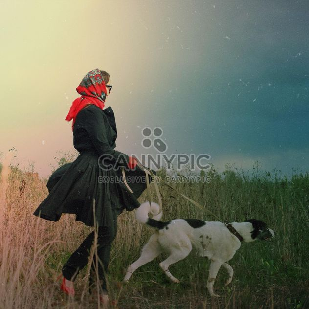 Lady with her dog, #mylook - Free image #332829