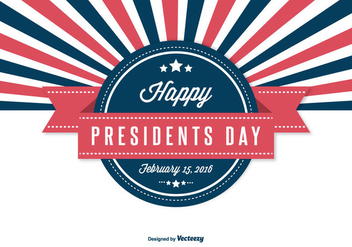 Retro Presidents Day Illustration - vector gratuit #333019