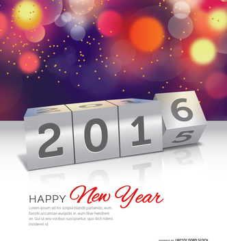2016 in 2015 out concept - vector gratuit #333079