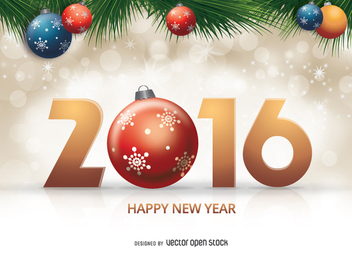 2016 Christmas design - vector gratuit #333089