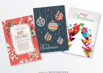3 Christmas postcards - vector gratuit #333099