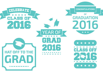 Graduation Badges - vector gratuit #333329